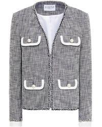 Claudie Pierlot Virgil Frayed Cotton-blend Twill Jacket - Blue