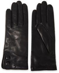 Rag & Bone Snap-detailed Leather Gloves Black
