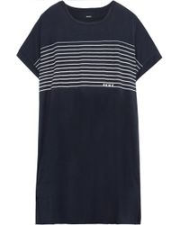 DKNY - Printed Jersey Nightdress - Lyst