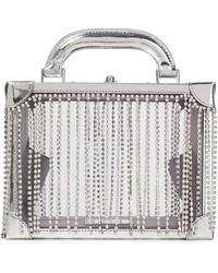 Area Ling Ling Crystal-embellished Metallic Leather And Pvc Tote