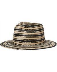 Rag & Bone - Striped Straw Panama Hat - Lyst