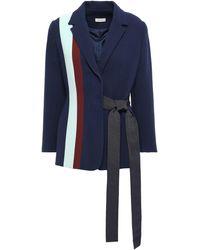Delpozo Striped Tie-waist Blazer - Blue