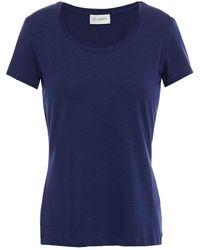 Ernest Leoty Emilie Stretch- And Cotton-blend Jersey T-shirt - Blue