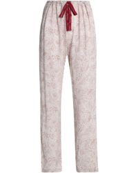 CALVIN KLEIN 205W39NYC - Printed Jersey Pyjama Trousers Light Brown - Lyst