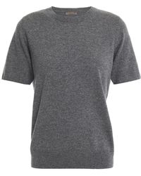 N.Peal Cashmere Cashmere Top - Grey