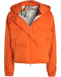 Emilio Pucci - Quilted Shell Hooded Down Jacket Bright Orange - Lyst