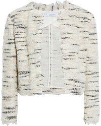 IRO Marino jacke aus bouclé-tweed mit metallic-effekt und fransen - Mettallic