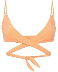 Melissa Odabash Indonesia Wrap Bikini Top Bright Orange