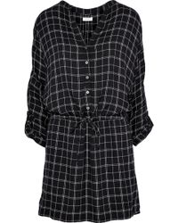 Soft Joie - Iselyn Checked Modal-blend Mini Dress - Lyst