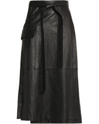 Alexis - Nita Leather Wrap Skirt - Lyst