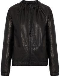 J Brand - Leather Bomber Jacket - Lyst