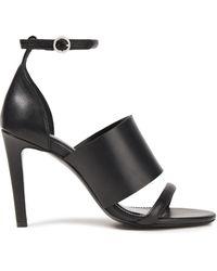 Rodebjer Adora Leather Sandals - Black