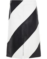 Stand Studio Leather Skirt - White