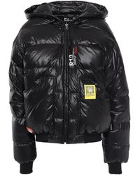 R13 Quilted Shell Hooded Down Jacket Black