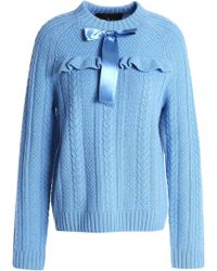 Needle & Thread - Bow-embellished Cable-knit Merino Wool Sweater - Lyst