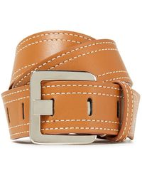 Veronica Beard Leather Belt Light Brown