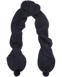 Chinti & Parker   Cable-knit Merino Wool Scarf Midnight Blue   Lyst