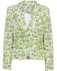 Zimmermann Floral-print Linen Blazer Pastel Yellow - Multicolour