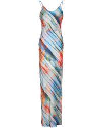 8621a64ec5d8 Kain - Woman Printed Satin Maxi Dress Multicolor - Lyst