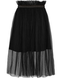Mother Of Pearl - Delphia Embellished Tulle Midi Skirt - Lyst
