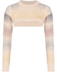 M Missoni - Cropped Crocheted Cotton-blend Sweater - Lyst