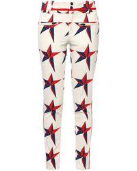 Perfect Moment Printed Shell Slim-leg Ski Pants Ivory - White