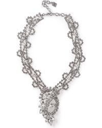 DANNIJO Loraine Silver-tone Crystal Necklace Silver - Metallic