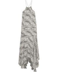 ViX - Esther Asymmetric Printed Gauze Midi Dress - Lyst