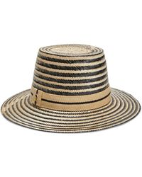 Yosuzi Amara Woven Straw Hat - Black