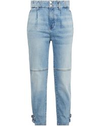Veronica Beard Moika High-rise Tapered Jeans - Blue