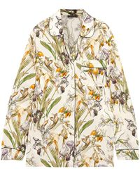 Alexander McQueen - Floral-print Silk Shirt - Lyst