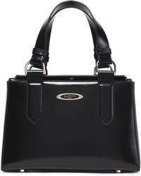 Lanvin - Glossed-leather Shoulder Bag - Lyst