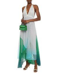 Missoni Dégradé Crochet-knit Halterneck Midi Dress - White