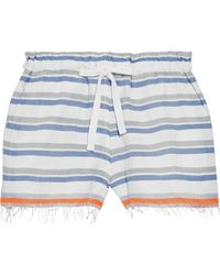 lemlem Asha Cotton-blend Jacquard Shorts White