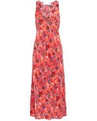 IRO Kaya Printed Crepe De Chine Midi Dress - Red