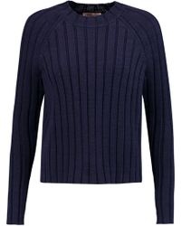 Tory Burch - Ribbed Cotton Jumper - Lyst