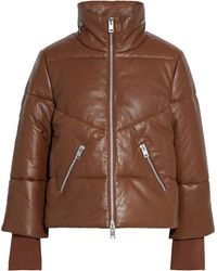 W118 by Walter Baker Edwina Tiger-print Leather Jacket - Brown
