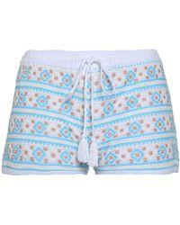 Melissa Odabash - Carolina Embroidered Cotton Shorts - Lyst