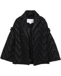 Amanda Wakeley - Frayed Cotton-blend Tweed Jacket Black - Lyst