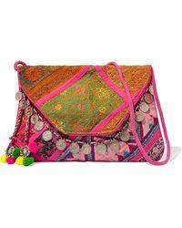 Antik Batik - Embellished Embroidered Cotton Wallet - Lyst