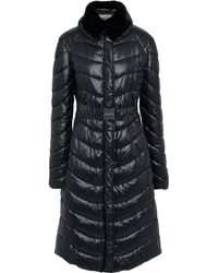 Emilio Pucci Faux Fur-trimmed Quilted Shell Coat Black