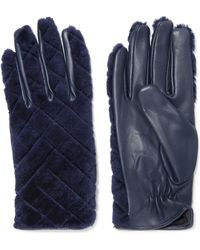 Sandro - Leather And Shearling Gloves - Lyst