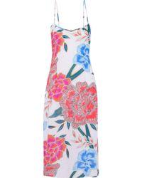 Mara Hoffman   Floral-print Gauze Midi Dress   Lyst