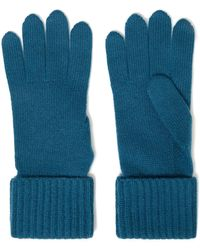 N.Peal Cashmere Cashmere Gloves Petrol - Blue