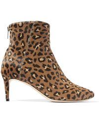 Jimmy Choo Duke Leopard-print Calf Hair Ankle Boots Animal Print - Brown