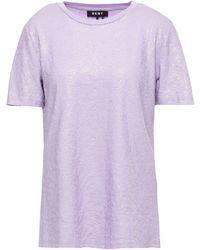 DKNY Sequined Stretch Cotton-jersey T-shirt Lilac - Purple