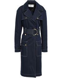 Diane von Furstenberg - Double-breasted Cotton-blend Gabardine Trench Coat - Lyst