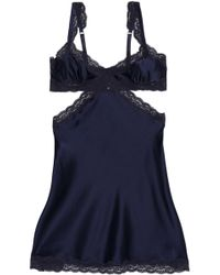 Stella McCartney - Lace-trimmed Silk-blend Satin Chemise - Lyst