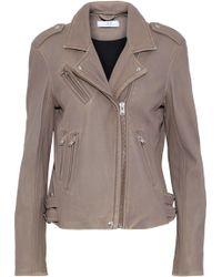 IRO - Distressed Leather Biker Jacket - Lyst