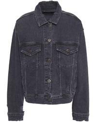 3x1 Distressed Denim Jacket - Grey